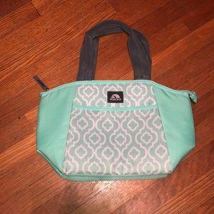 Igloo Mint Green and White Geometric Lunch Bag